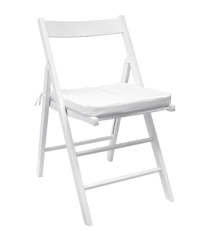 Noleggio sedie sedieil legno pieghevoli bianche for Sedie pieghevoli legno