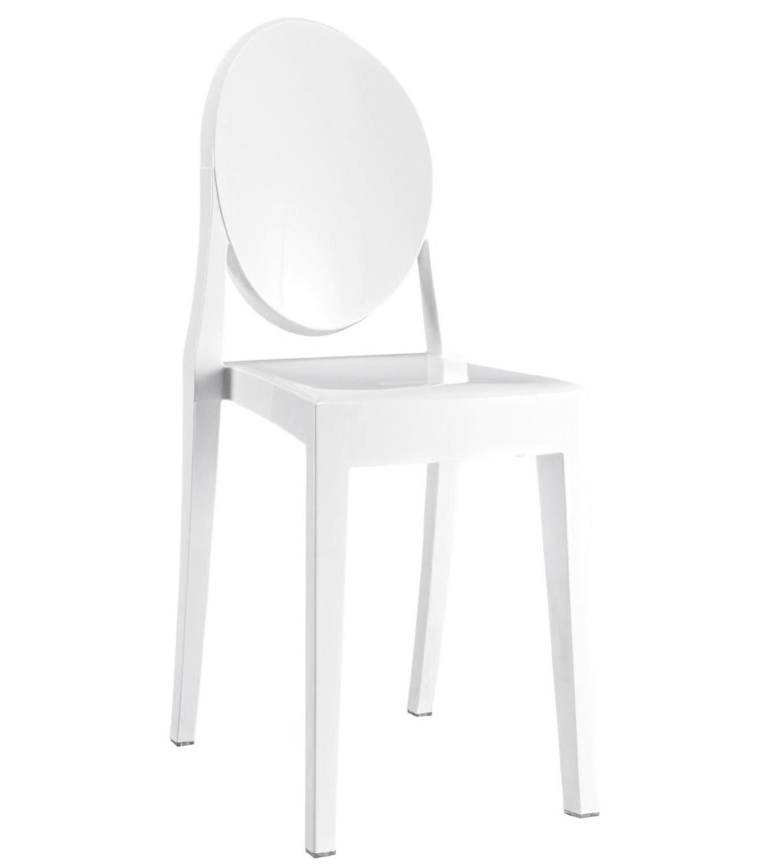Noleggio sedie sedie mod victoria ghost bianche for Sedie bianche