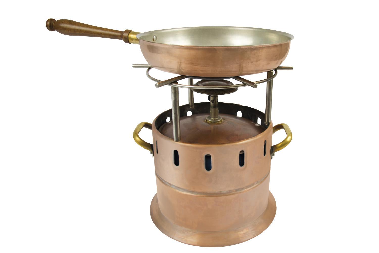 noleggio attrezzature da buffet, lampade flambè rame - Cucina Flambè