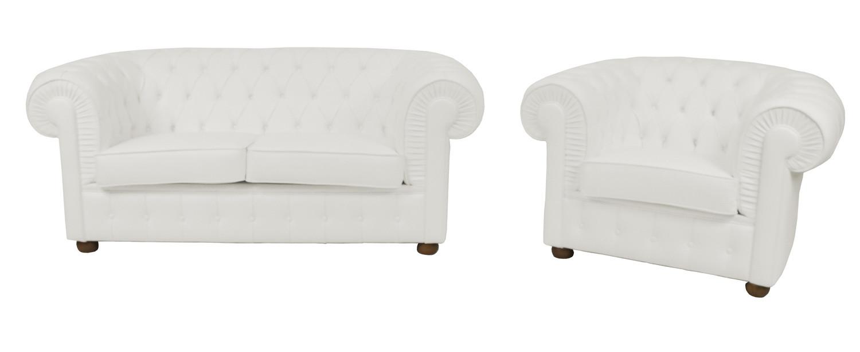 Noleggio divani e poltrone divano in pelle bianchi for Salotti bianchi