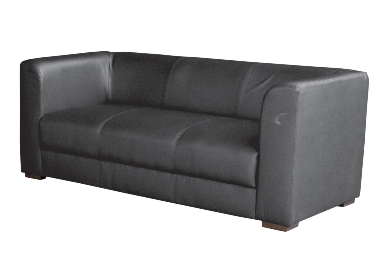 Noleggio divani e pouf divano in ecopelle nero - Divano ecopelle nero ...