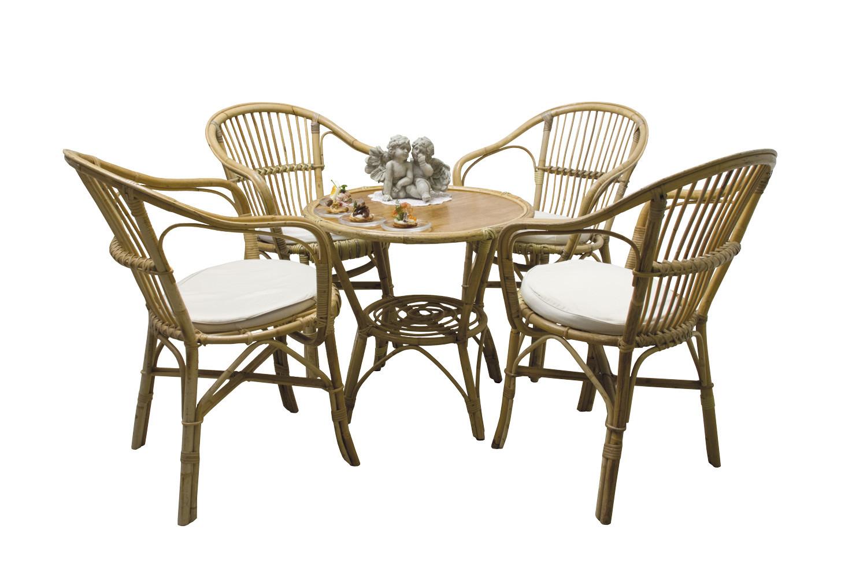 Noleggio salotti set da giardino in vimini con 4 poltrone - Divano in vimini ...
