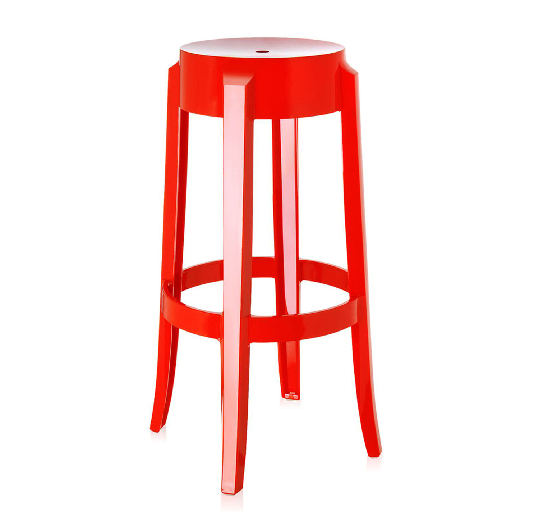 Noleggio sedie sgabelli kartell charles ghost rossi for Sgabelli rossi