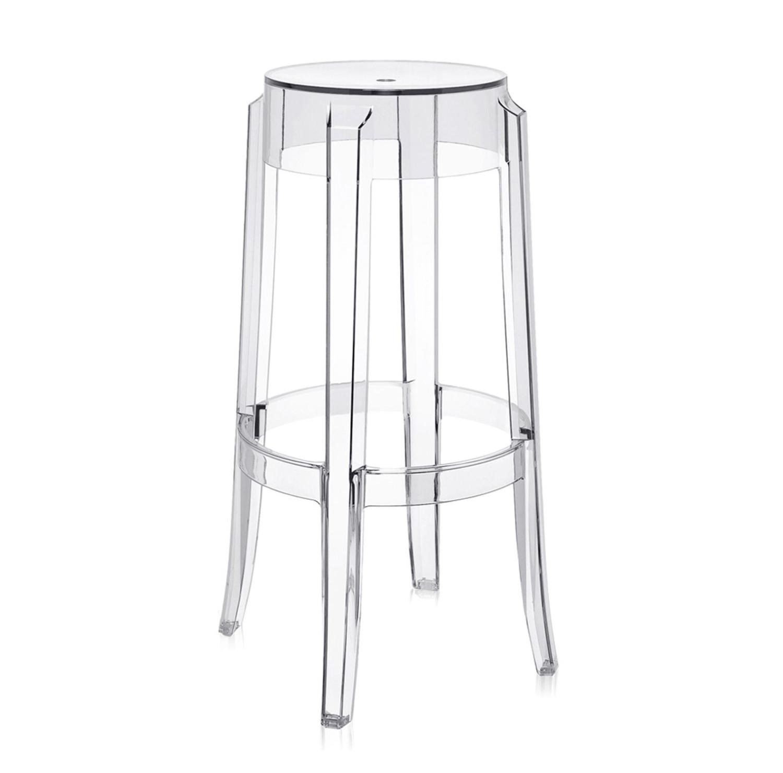 noleggio sedie sgabelli kartell charles ghost cristall