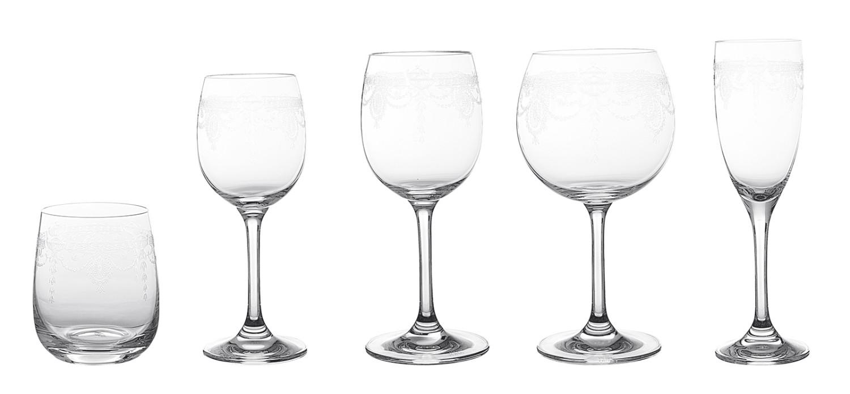Noleggio bicchieri serie di bicchieri modello molata - Disposizione bicchieri in tavola ...