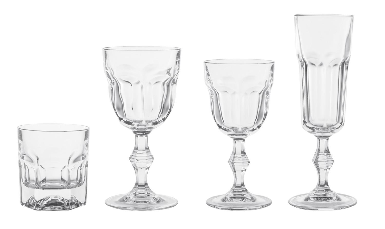 Noleggio bicchieri serie di bicchieri modello provenza - Disposizione bicchieri in tavola ...