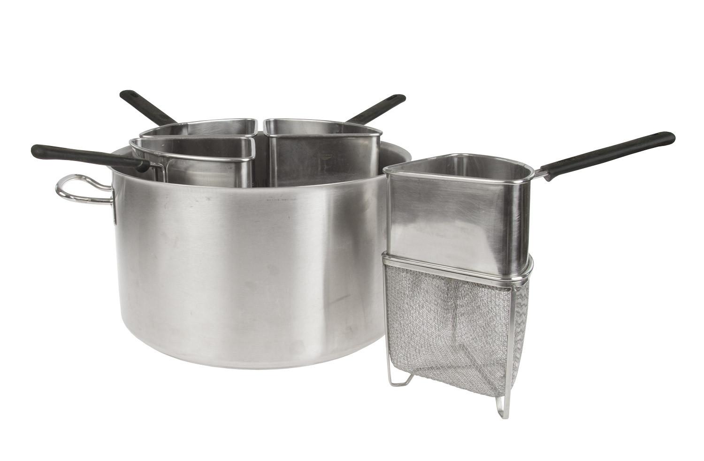 Noleggio pentole e utensili pentola inox 4 cestelli per induzione - Pentole per cucine a induzione ...