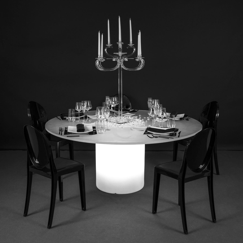 Noleggio tavoli tavoli rotondi luminosi mod elit - Tavoli rotondi per catering ...