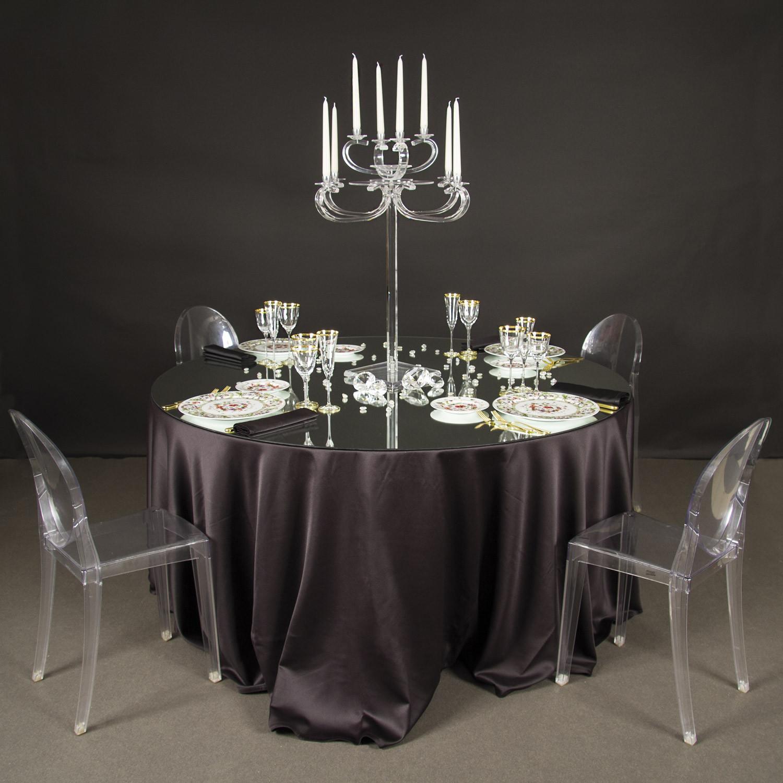 Noleggio tavoli tavoli rotondi elit con specchio - Tavolo rotondo con piede centrale ...