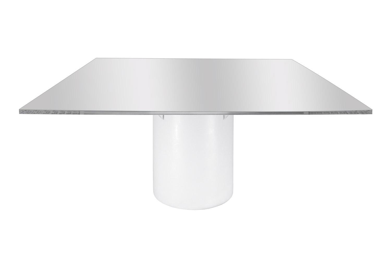 Noleggio tavoli tavoli quadrati mod elit con top specchio - Tovaglia tavolo quadrato ...