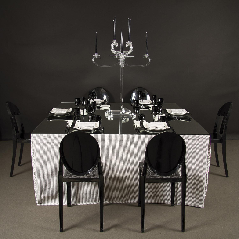 Noleggio tavoli tavoli quadrati tovaglia e top specchio - Tovaglia tavolo quadrato ...