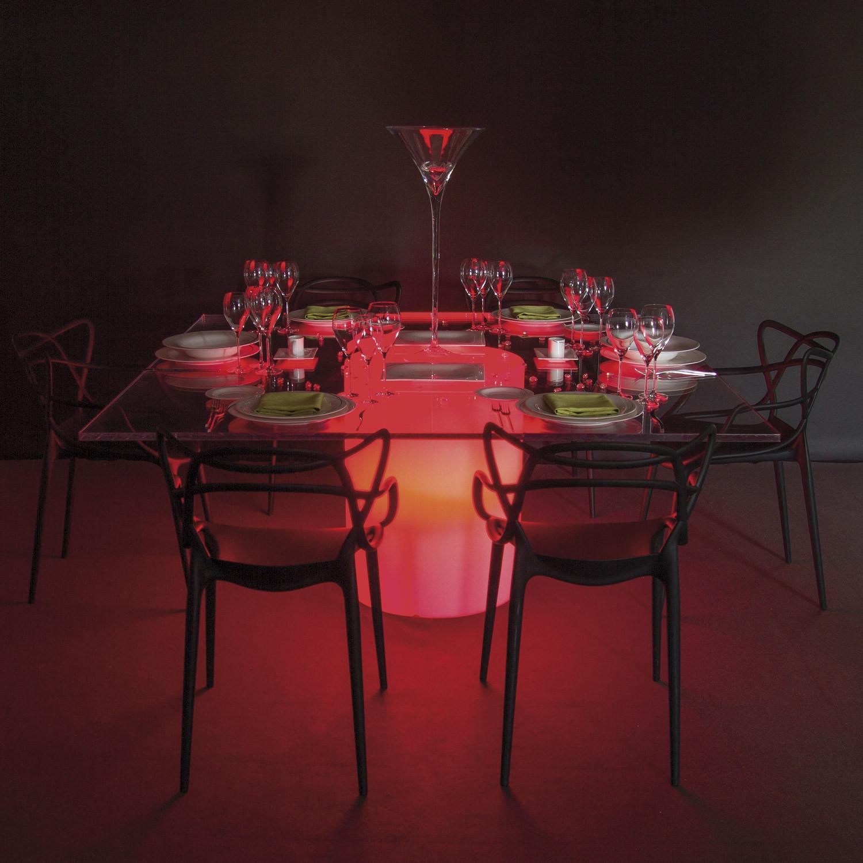 Noleggio tavoli tavoli quadrati mod elit luminoso - Tovaglia tavolo quadrato ...