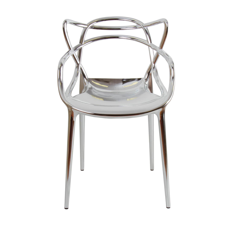 Noleggio Sedie, Sedia Philippe Starck modello Masters color argento