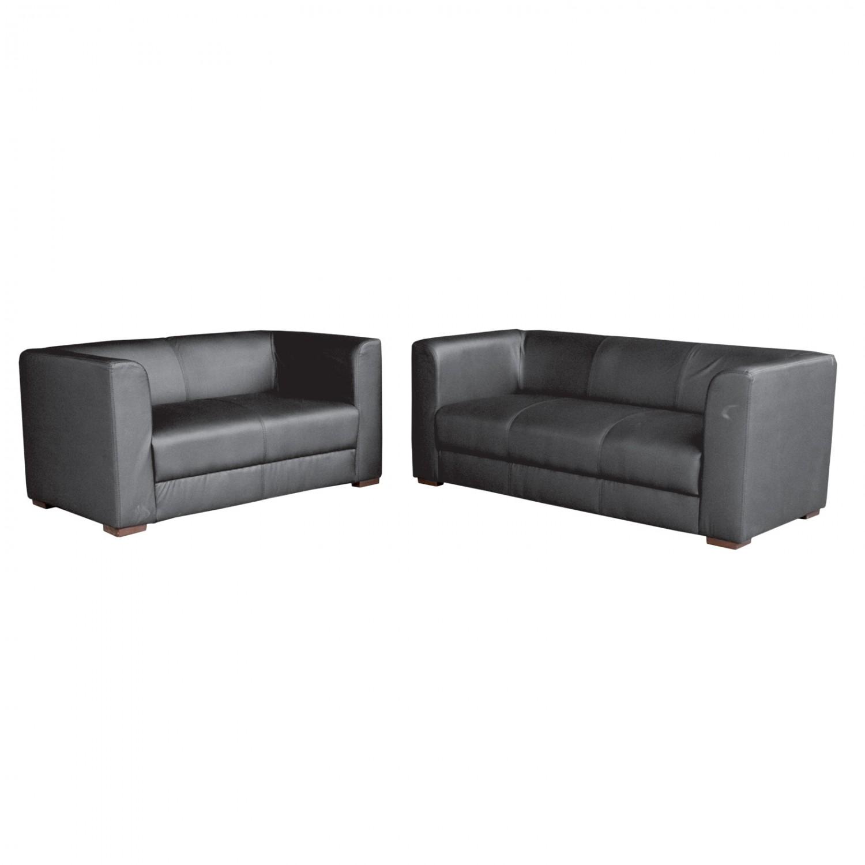 Noleggio divani e poltrone divano in ecopelle nero - Divano ecopelle nero ...