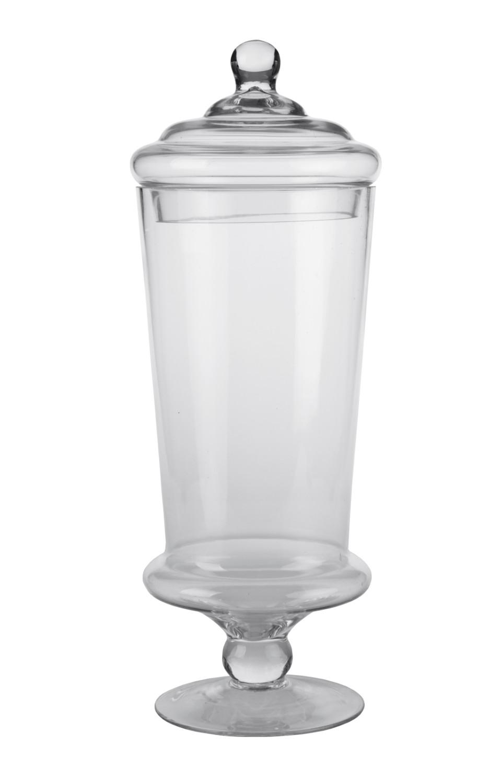 Vasi e decori vasi conici in vetro con piedistallo e for Vasi ermetici vetro