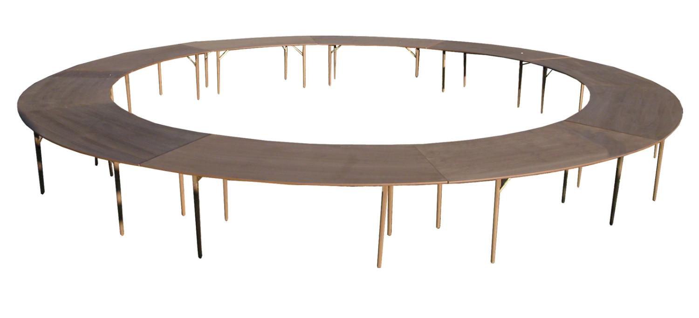 Noleggio tavoli rotondi, quadrati in legno, vimini e plexiglass ...