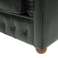 Arredi vintage divano in pelle color verde petrolio - Divano verde petrolio ...